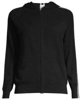 TSE x SFA Cashmere Chain Stripe Hooded Track Jacket