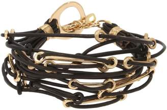 Robert Lee Morris Soho Brown Eyed Girl Leather Multi-Row Bracelet