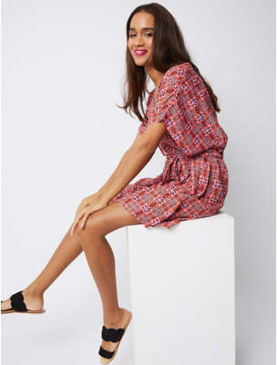 George Tile Print Beach Cover Up