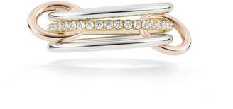 Spinelli Kilcollin 18k 2-Tone 3-Link Ring w/ Diamonds