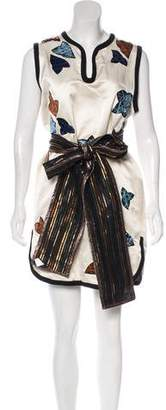 Marc Jacobs Silk Appliqué Dress w/ Tags