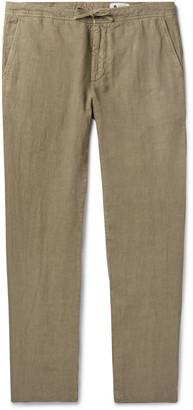 NN07 Copenhagen Slim-Fit Garment-Dyed Linen Drawstring Trousers - Men - Green