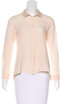 Cynthia Steffe Embellished Button-Up Top