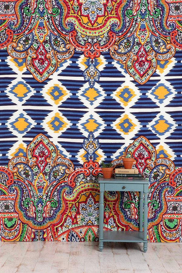 Urban Outfitters Geo Paisley Tapestry