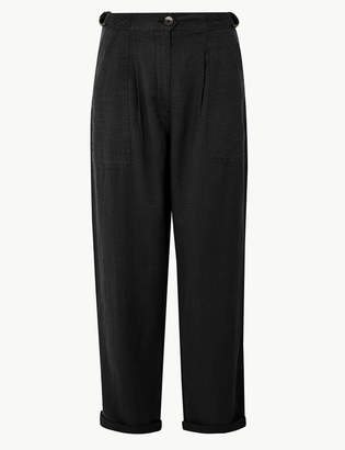 Per Una Per UnaMarks and Spencer Linen Blend Ankle Grazer Peg Trousers