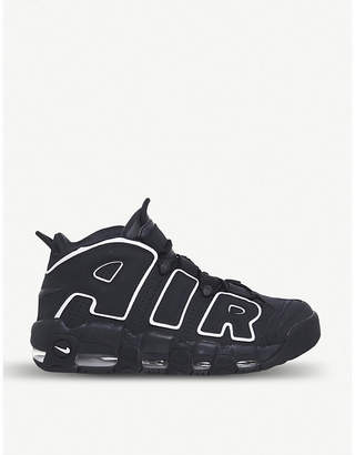 Nike More Uptempo leather and mesh high-top trainers