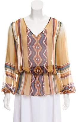 Haute Hippie Silk Printed Top