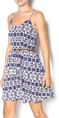Wish Navy Belted Dress