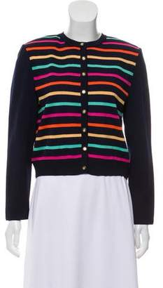 St. John Structured Striped Cardigan