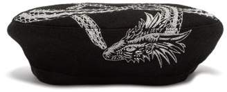 MHI Ouroboros Wool Beret - Womens - Black