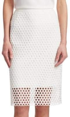 Akris Punto Women's Lace Pencil Skirt - Cream - Size 4
