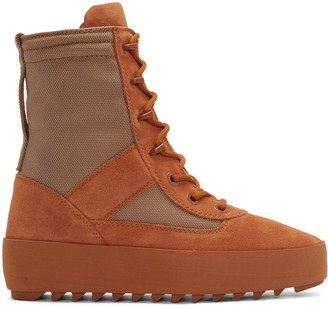 YEEZY Orange Military Boots $645 thestylecure.com
