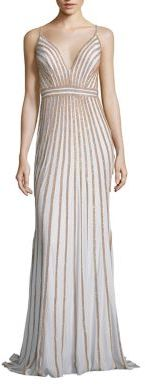 Jovani Beaded Jersey Gown $530 thestylecure.com