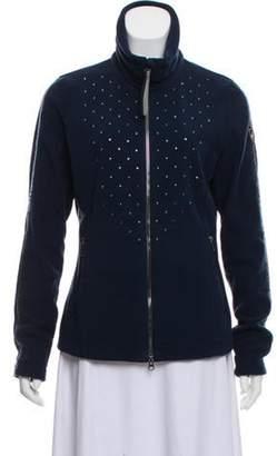 Toni Sailer Embellished Zip-Up Sweatshirt Blue Embellished Zip-Up Sweatshirt