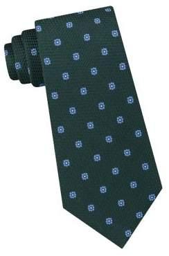 Black & Brown Black Brown Floral Silk Tie