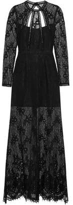 Alexis Nirav Open-Back Guipure Lace Maxi Dress