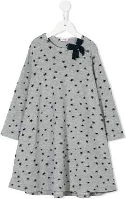 Il Gufo star pattern flared dress