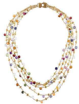Marco Bicego Paradise 18K Multistone Multistrand Necklace