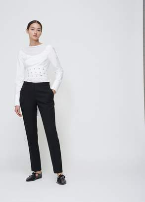 Proenza Schouler Long Sleeve Crop Wrap Top