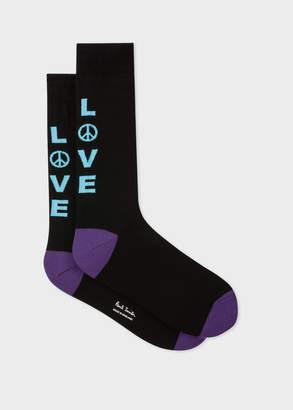 Paul Smith Men's Black 'Love' Socks