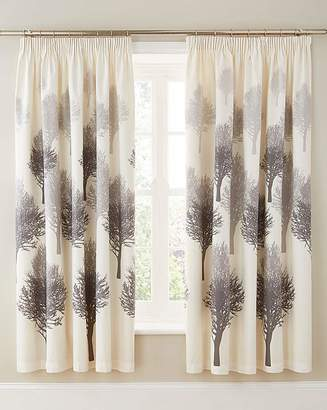 Fashion World Woodland Cotton Lined Curtains