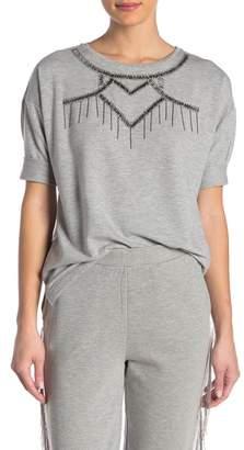 Romeo & Juliet Couture Beaded Short Sleeve Shirt