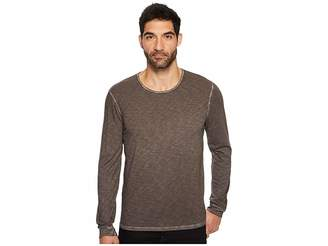 7 For All Mankind Long Sleeve Raw Crew Neck Tee Men's T Shirt