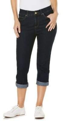 Rafaella Cuffed Capri Jeans