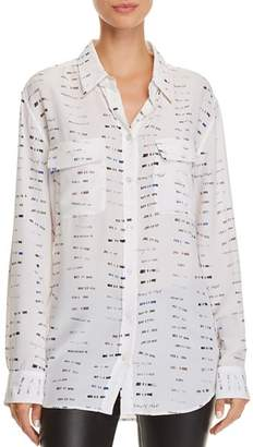 Equipment Signature Printed Silk Shirt