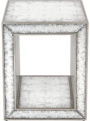 One Kings Lane Rivera Églomisé Side Table - Silver