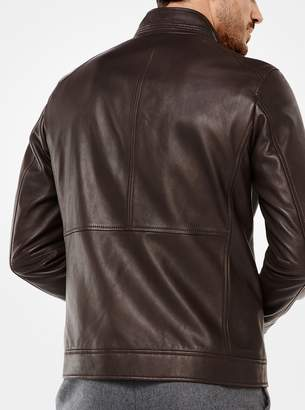 Michael Kors Leather Racing Jacket