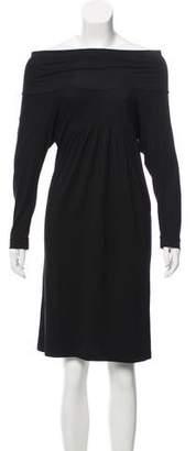 Calypso Cowl-Neck Knee-Length Dress