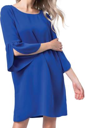 Olivia Pratt 3\/4 Flare Sleeve Shift Dress