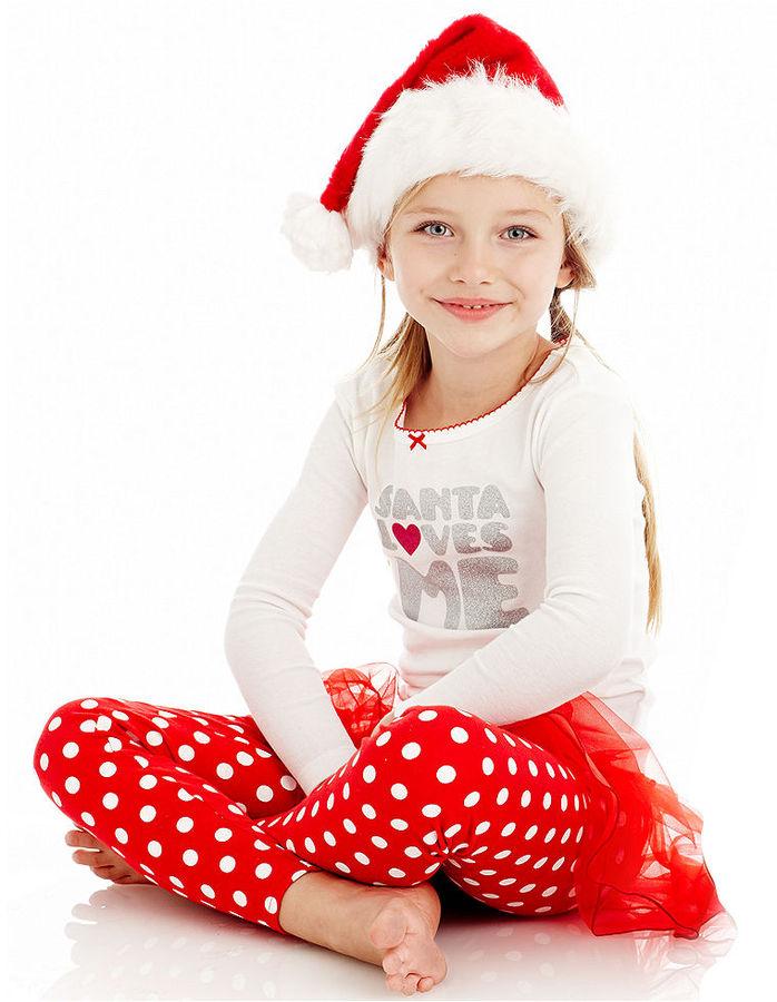 Carter's Kids Pajamas, Little Girls I Love Santa 3-Piece Dress-Up PJs