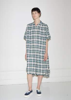 6397 Oversized Plaid Gauze Dress