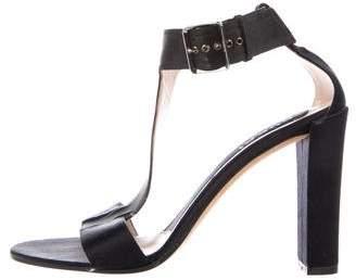 Gucci Satin T-Strap Sandals