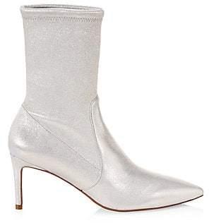 Stuart Weitzman Women's Wren Glitter Leather Booties