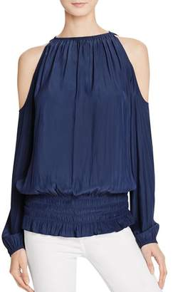 561f39596c30d2 Ramy Brook Blue Cold Shoulder Women s Tops - ShopStyle