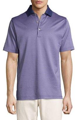 Peter Millar Ophelia Jacquard Cotton Lisle Polo Shirt $98 thestylecure.com