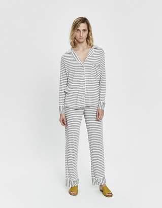 Maison Du Soir Monaco Striped Pajama Set