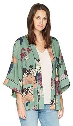 Ella Moon Women's Lorna Kimono Jacket with Piping Detail