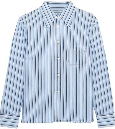 Prada - Striped Cotton Shirt - Blue