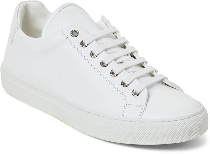 Jil Sander White Leather Low-Top Sneakers
