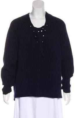 Nili Lotan Cashmere Lace-Up Sweater