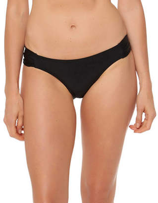 Jessica Simpson Shirred Hipster Bikini Bottom