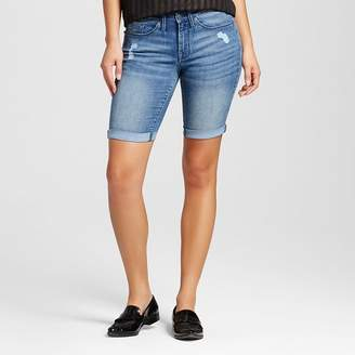 Mossimo Women's Mid Rise Bermuda Short - Mossimo Medium Destructed $22.99 thestylecure.com