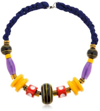 Missoni Graphic Modernist Resin Long Necklace
