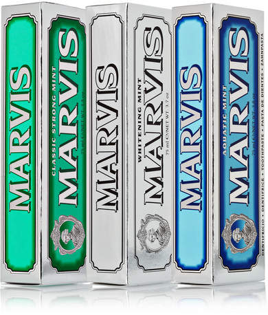 Marvis Classic Strong Mint, Aquatic Mint And Whitening Mint Toothpaste, 3 X 75ml - Colorless