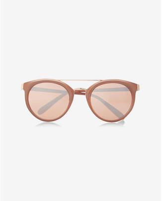 Express rose gold cat eye sunglasses