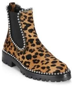 Alexander Wang Spencer Leopard-Print Chelsea Boots